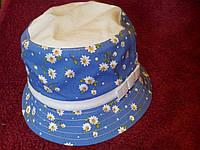 Детская летняя шляпка с бантиком для девочки