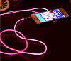 Светящиеся наушники Light EarPhone Розовые