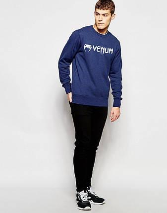 Мужской Свитшот Venum т.синий, фото 2