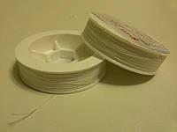 Нить для вышивки бисером Титан белая 100 м