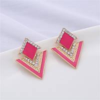 Серьги Vintage pink