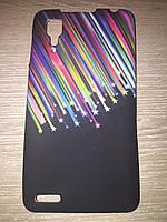 Силіконовий чохол чорний із зірочками для Lenovo P780, фото 1