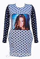 Модное детское трикотажное  платье-туника .128-152р., фото 1