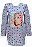 Модное детское трикотажное  платье-туника .128-152р.
