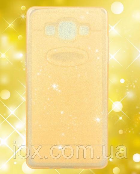 Силиконовый переливающийся золотой чехол для Samsung Galaxy A5