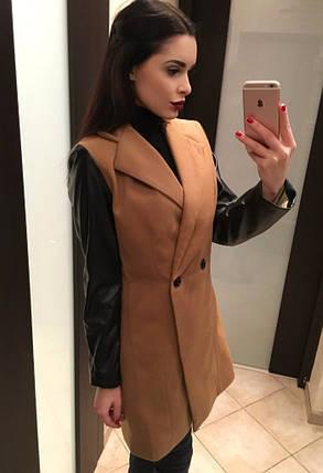 "Пальто №6 ""Кожа пуговица"", фото 2"