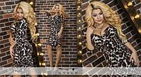 Платье женское леопардовое облегающие