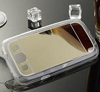 Силиконовый зеркальный золотой чехол для Samsung Galaxy S3/S3 duos