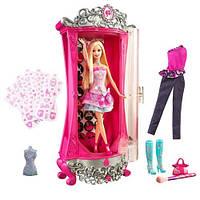 Набор Волшебный  Шкаф с одеждой Барби 45 см + кукла Барби / Barbie A Fashion Fairytale Glitterizer Playset