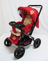 Детская коляска Sigma H-T(WFS)-D красная