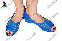 Женские туфли лодочка синие  ( Код : ПЖ-22)