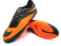 Детские соконожки Nike HyperVenom Phelon TF Black/ Orange, фото 1