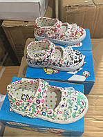 Детские цветочные кеды на липучку для девочек Размеры 19,20