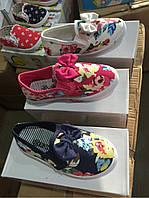 Кеды текстильные с бантиком для девочек Linix оптом Размеры 24-29