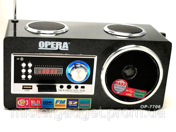 Портативная Колонка OPERA 7706 Опера, фото 2
