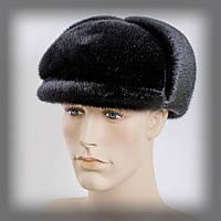 Мужская шапка из нерпы черная