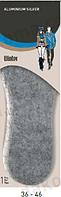 Стельки термоизоляционные из слоя войлока с функцией натурального амортизатора АLUMINIUM SILVER Coccine