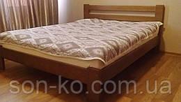 Ліжко двоспальне з масиву буку Вероніка