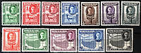 Somaliland Protectorate филателия SG#105-116 MLH, F/VF 1942 год, фото 1