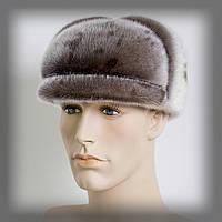 Мужская шапка из нерпы (серая), фото 1