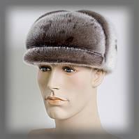 Мужская шапка из нерпы (серая)