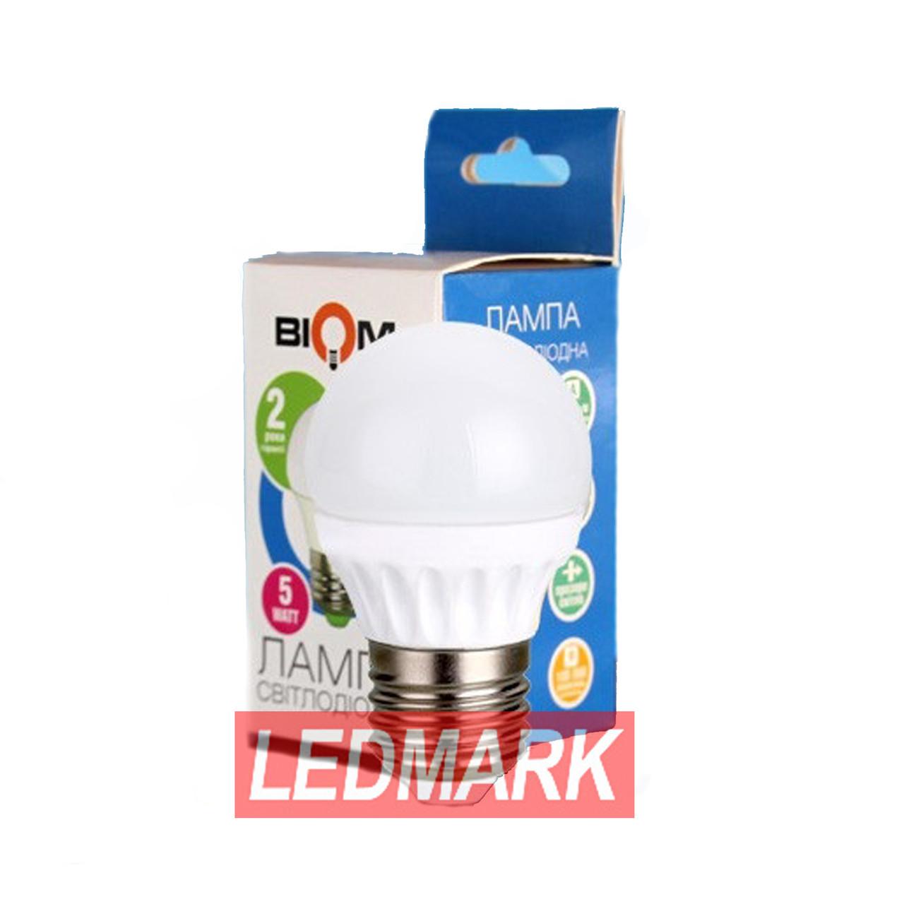 Лампа светодиодная BIOM BG-203 5W 3000K E27