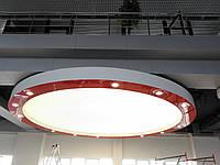 Многоуровневые натяжные потолки,переход уровня