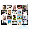 Фоторамка Классическая на 20 фотографий 10х15, антибликовое стекло (чёрно-белый)