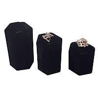 Подставки бархатные для колец набор