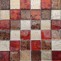 Керамическая плитка Mix Red Мозаика от VIVACER (Китай)