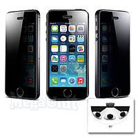 Anti Spy Защитное стекло для экрана iPhone 5/5S/5C анти-шпион (с фильтром конфиденциальности), фото 1