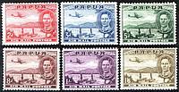 Papua британские колонии 1939 год SG#163-168