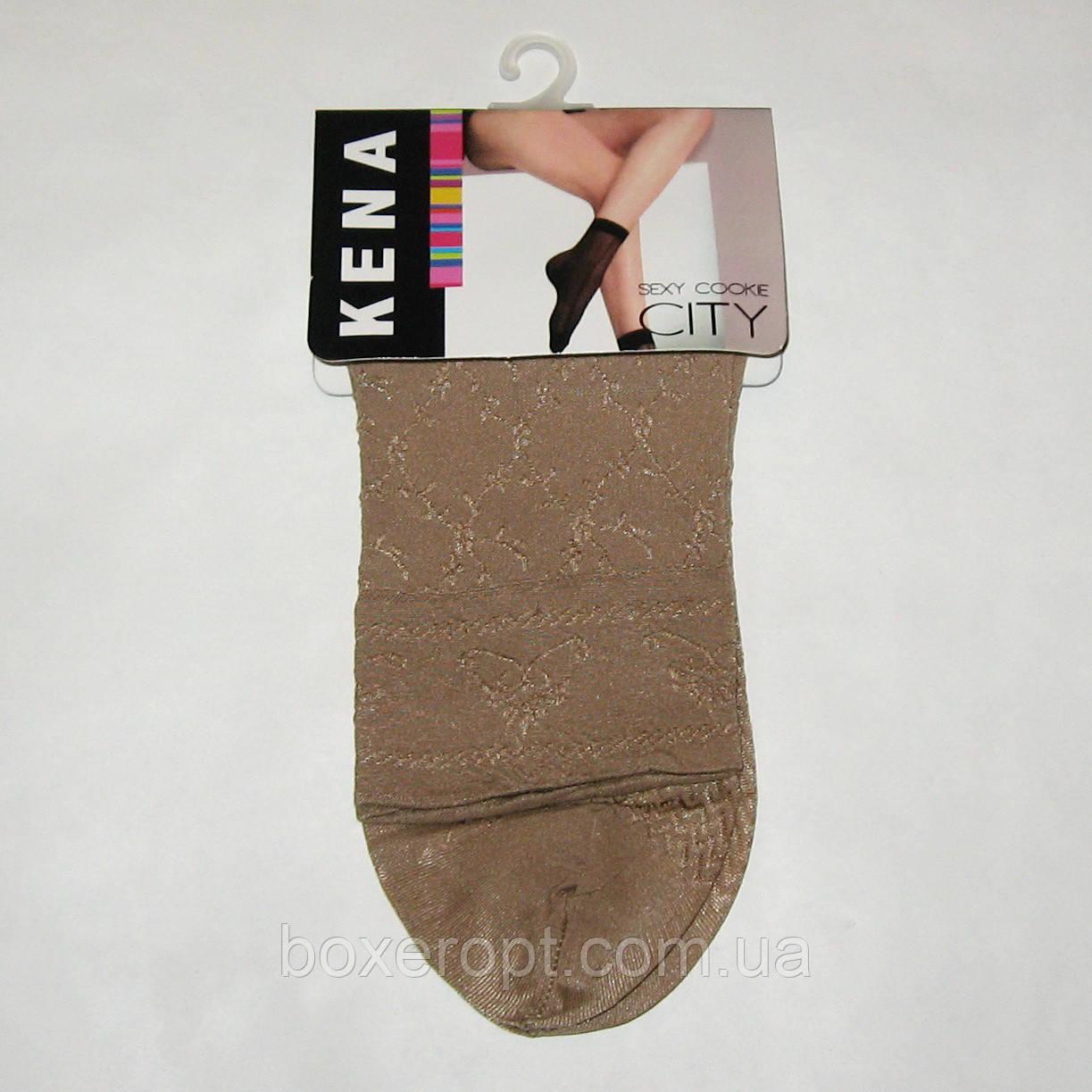 Женские нейлоновые носки Kena - 9.50 грн./пара (бежевые)