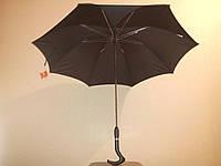 Зонт-трость черный Feeling Rain PG 107 полный автомат