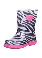 Резиновые сапоги,расцветка зебра,розовая подошва 25 рзм. (Д)