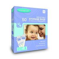 Пакеты для хранения и замораживания грудного молока (50 шт., из полиэтилена)
