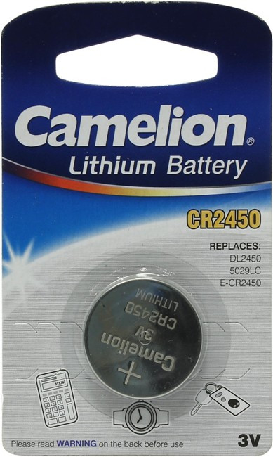 Батарейка литиевая Camelion CR2450