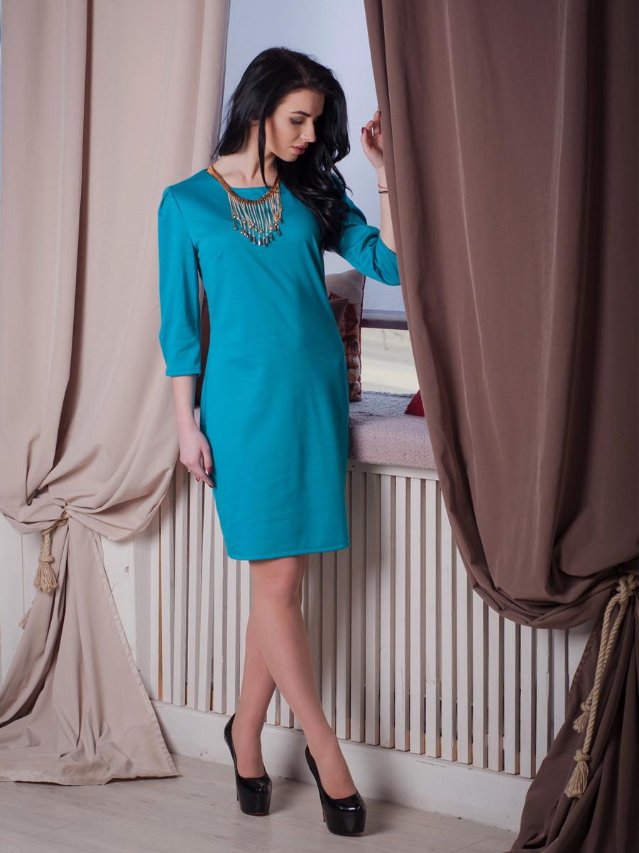 Однотоное женское платье