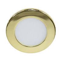 Светильник светодиодный Feron AL500 3W золото встраиваемый (LED панель)