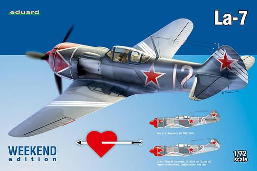 Сборная модель самолета Ла-7 1/72
