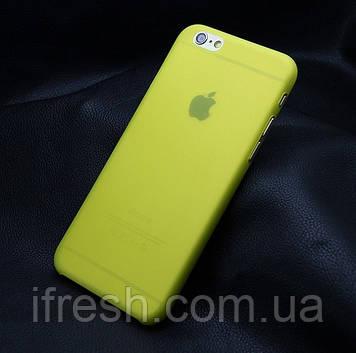 Ультратонкий чохол для iPhone 6/6s, жовтий