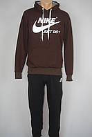 Спортивный мужской костюм в стиле Nike трикотаж капюшон, фото 1