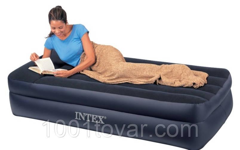 Надувная кровать Intex 66706 с электронасосоом