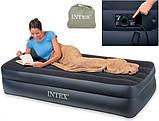 Надувная кровать Intex 66706 с электронасосоом , фото 4
