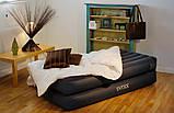 Надувная кровать Intex 66706 с электронасосоом , фото 5
