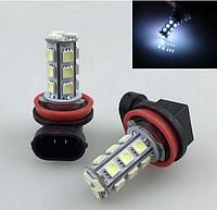 Светодиодная лампа LED H11 H8 18 СМД 5050 из светодиодов H11 PGJ19-2 противотуманные фары 6000К 1,9Вт