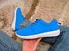 Кроссовки в стиле голубые легкие текстильные