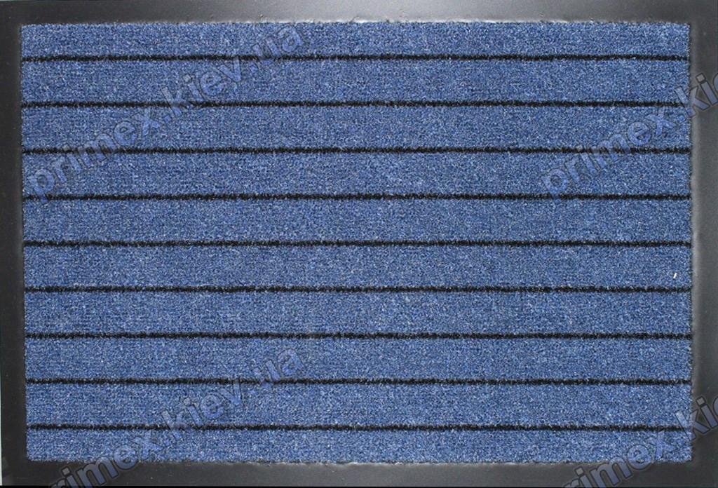 Ковер грязезащитный Широкая полоска, 60х90см., синий