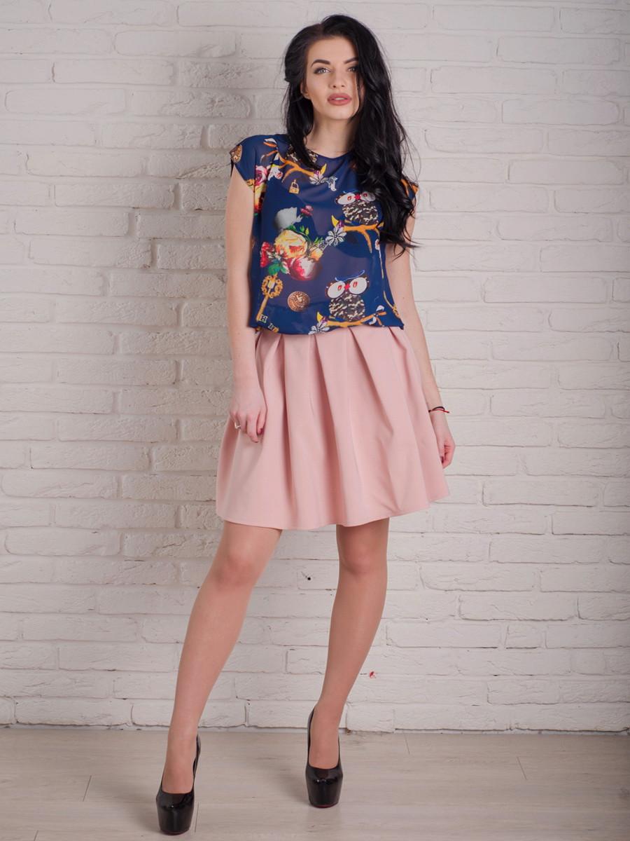Молодежная юбка в складочку
