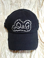 Бейсболка чёрная вышивка Dolce & Gabbana